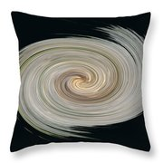 White Spiral Throw Pillow