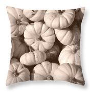 White Squash Throw Pillow