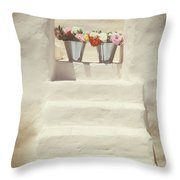 White Steps Throw Pillow