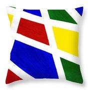 White Stripes 2 Throw Pillow
