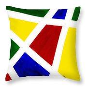 White Stripes 3 Throw Pillow