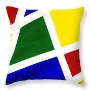 White Stripes 6 Throw Pillow