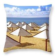 White Sunshades Throw Pillow
