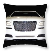 White  Three  Hundred  Limited  In  Black  Throw Pillow