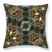White Tiger Carousel Throw Pillow