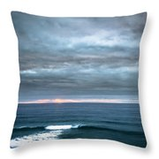 White Track Throw Pillow