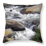 White Water Composition Throw Pillow