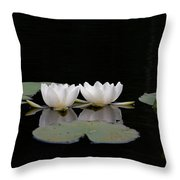 White Water-lily 6 Throw Pillow