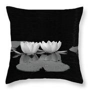 White Water-lily 7 Throw Pillow