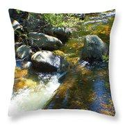White Wolf Creek Throw Pillow