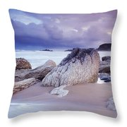 Whitepark Bay, Co Antrim, Ireland Rocks Throw Pillow