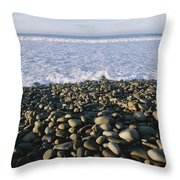 Whitewater From Crashing Waves Washes Throw Pillow