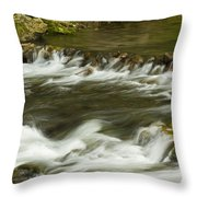 Whitewater River Rapids 3 Throw Pillow