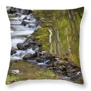 Whitewater River Rock Dam 1 A Throw Pillow