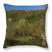 Whitewater River Scene 20 A Throw Pillow