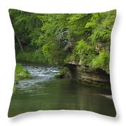 Whitewater River Spring 5 B Throw Pillow