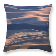 Whitman County Granary At Sunset Throw Pillow