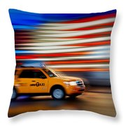 Whizzing Along Throw Pillow