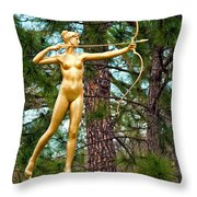 Who Needs Cupid Throw Pillow