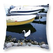 Who Says I Am Not A Boat I Do Float Throw Pillow