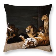 Whoever You Are Here Is Your Master Throw Pillow by Jean Leon Gerome