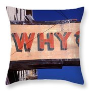 Why Throw Pillow by Garry Gay