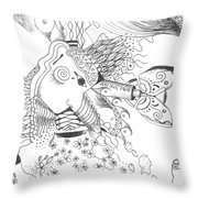 Why Not Flowers Throw Pillow