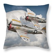 Wicked Wabbit And Hun Hunter Throw Pillow
