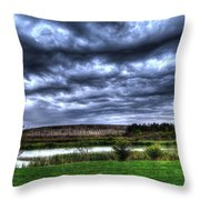 Wicked Wave Clouds Throw Pillow