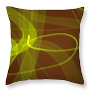 Wide Bands Of Soft Green Light Curve Around Each Other Throw Pillow