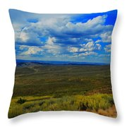 Wide Open Wyoming Sky Throw Pillow