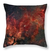 Widefield View Of He Crescent Nebula Throw Pillow