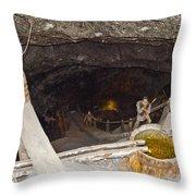 Wieliczka Salt Mine  Throw Pillow