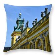 Wilanow Palace - Poland Throw Pillow