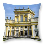 Wilanow Palace And Museum - Poland Throw Pillow