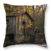 Wilbanks Mill On Dicks Creek Throw Pillow