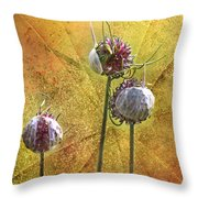 Wild Allium Ala Grunge Throw Pillow