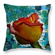 Wild And Crazy Rose Bud Throw Pillow