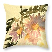 Wild Asters Aged Look Throw Pillow