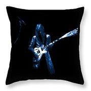 Wild Blue Guitar Throw Pillow