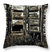 Wild Doors Throw Pillow