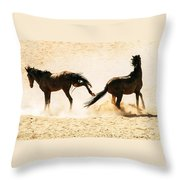Wild Dust Throw Pillow