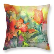 Wild Flowers 05 Throw Pillow