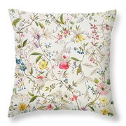 Wild Flowers Design For Silk Material Throw Pillow