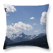 Wild Goose Island Floats In St Mary Lake Throw Pillow