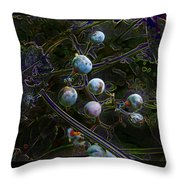 Wild Grapes Abstracted Throw Pillow