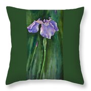 Wild Iris I Throw Pillow