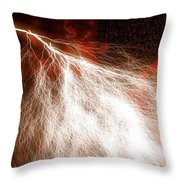 Wild Lightning  Throw Pillow