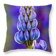 Wild Lupins Throw Pillow