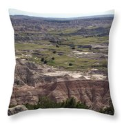 Wild Mountain Goat On Top Of The Badlands Throw Pillow